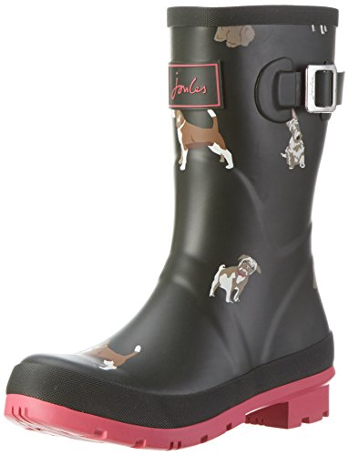 Joules Women's Molly Welly Rain Boot - Olive Fido Dog - 6...