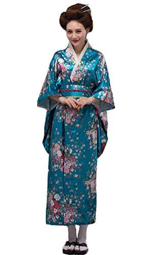 Soojun Women's Traditional Japanese Kimono Style Robe Yukata Costumes 2 -