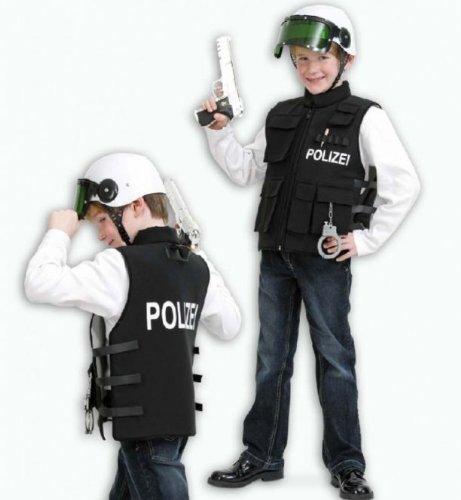 Fasching Karneval Kostüm Polizei-Einsatzweste, Polizei, Polizei-Weste: Größe: 128