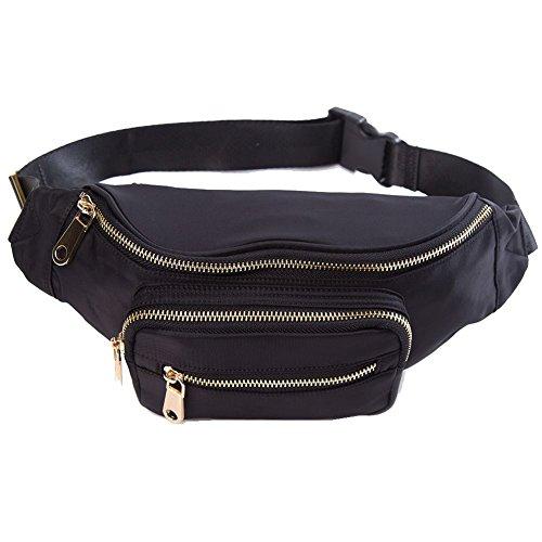 HKS-HOMME Nylon Water Resistant Outdoors Travel Waist Fanny Bag Pack for Men/&Women