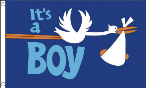 ITS A BOY FLAG 3' x 5' - IT'S A BOY - BIRTH FLAGS 90 x 150 c