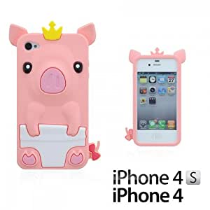 OnlineBestDigital - Piggy Style Soft Silicone Case for Apple iPhone 4S / Apple iPhone 4 - Flesh