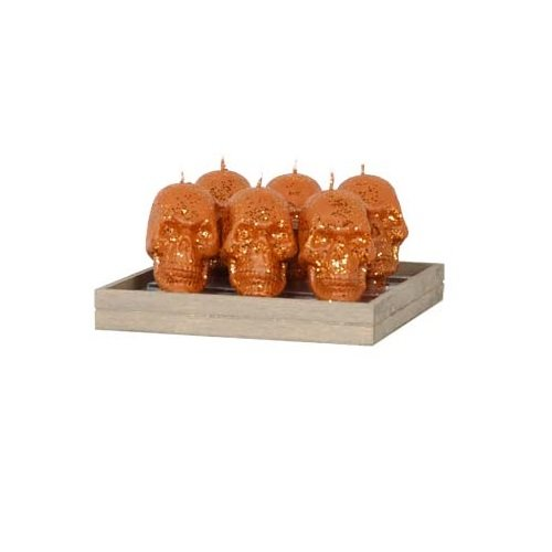Fantastic Craft Skull Taper Candles, 3-Inch Tall, Copper, Set of 6 by Fantastic Craft