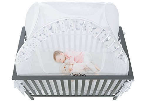 Amazon.com  SEE THROUGH MESH TOP - Baby Crib Tent Safety Net Pop Up Canopy Cover  Baby  sc 1 st  Amazon.com : crib tents - memphite.com