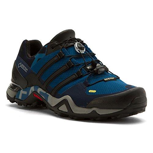 Scarpe Sportive Adidas Sportive Terrex Fast R Gore-tex Scarpe Da Trekking In Tessuto Tecnico Acciaio / Nero / Blu Scuro