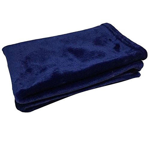 FTXJ Micro Plush Microfiber Throw Blanket, Soft Fleece Warm Lightweigh Quilt for Couch/Sofa/Bed (50x70CM, Dark Blue, Small Size for Baby)