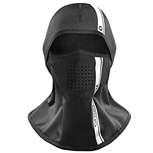 RockBros Winter Balaclava Warm Windproof Face Mask for Outdoor Ski Snowboarding Motorcycle Cycling Black