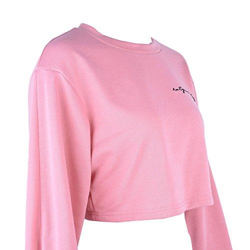 shirt a lunghe shirt T da bianco Vectry Party Summer Original Donna con scollo maniche ragazza T Camicette 1pTPwqt