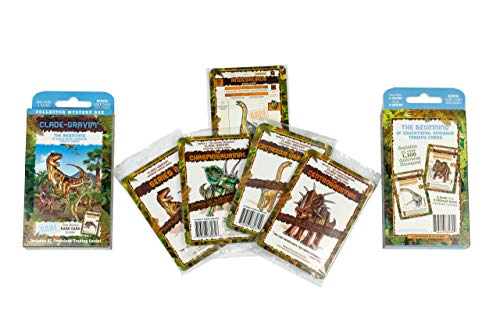 Clade-Gravim® Trading Cards Boys Dinosaurs Collector Mystery Box Educational Dinosaur 4 packs from 4 Series Adults Girls