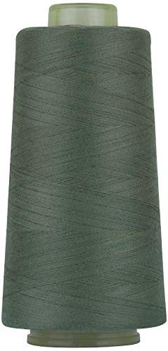 RCL 100% Polyester Sewing Thread Spools - 3000 Yards/1 Spool of Yarn, 40/2 All-Purpose Connecting Threads for Sewing Machine and Hand Repair Works (Green Linen)