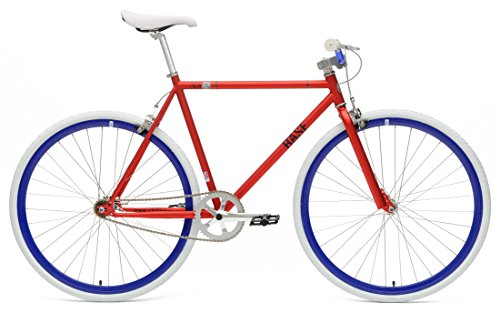 Chill Bikes Single Speed Commuter Fixie Bike Alloy Frame, Matte Red, 53cm