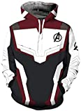 Boy's The Avengers Endgame Jacket 3D Printed Infinity war Hoodie Quantum Realm Gifts for Kids (M) White Black