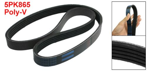 sourcingmap 5PK865 Poly-V Black Rubber Serpentine Belt for Car