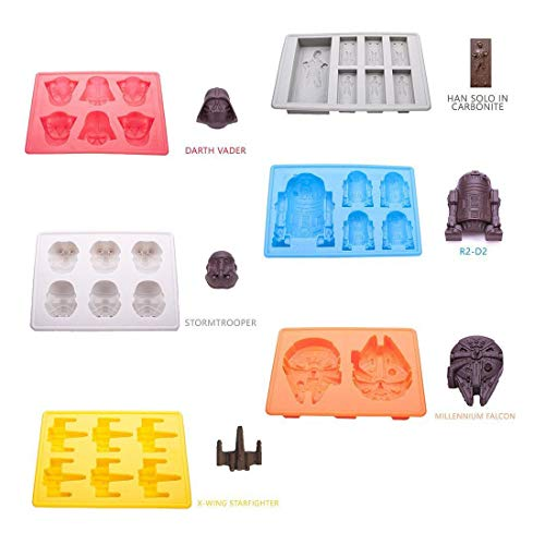 6 pc/set Silicone Ice Cube Tray Candy Mold Fondant for Star Wars Lover