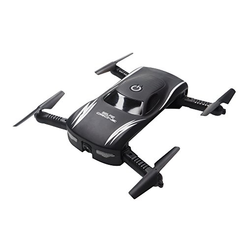 ARRIS RC Foldable Pocket Drone w/Altitude Hold/0.3MP HD Camera/Headless/Voice Control/G-Sensor Wifi FPV Quadcopter by ARRIS