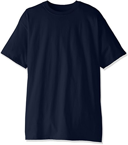 Hanes Men's Size Tall Short-Sleeve Beefy T-Shirt (Pack Of Two), Navy, 3X-Large