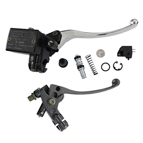 HURI Brake Master Cylinder with Left Clutch Lever for Honda Goldwing 1000 1100 1200 1500 1800 GL1000 GL1100I GL1200 GL1500 GL1500A GL1800 (Clutch Gl1100)