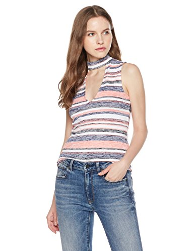 Something-For-Everyone-Womens-Marled-Cutout-Neck-top