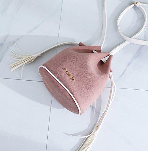 Shoulder Women ZOMUSA Sales Bucket Drawstring Simple Pink Retro Mini Bag Hot C81AnxWqw1