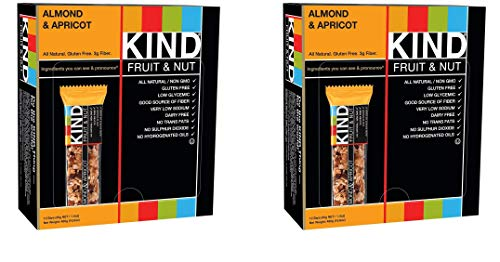 KIND Bars, Almond and Apricot, Gluten Free, 1.4oz, 24 Bars by KIND (Image #1)