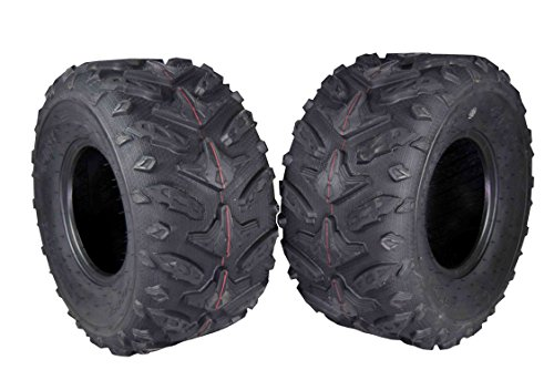 MASSFX Grinder Series ATV Dual Compound Tread Mud Sand Snow and Rock Tires (Two Rear 22x10-9)