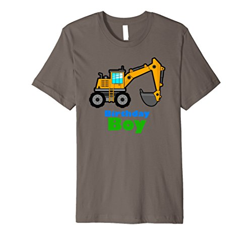 Excavator Kids Shirt Birthday Boy Toddler Excavator Dig Tee