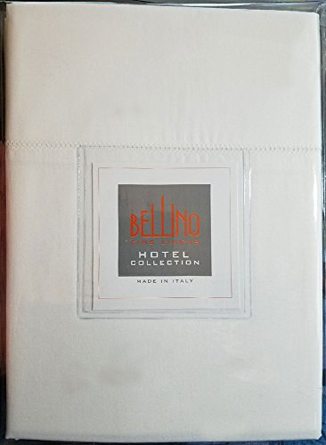 - Bellino Pair Pillow Cases Ajour Hemstitch 100% Egyptian Cotton White (Standard Pair)
