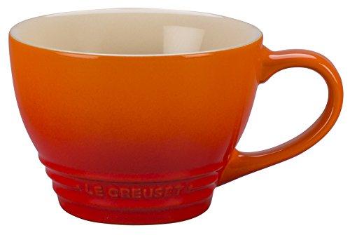 (Le Creuset Stoneware Bistro Mug, 14 oz, Flame)