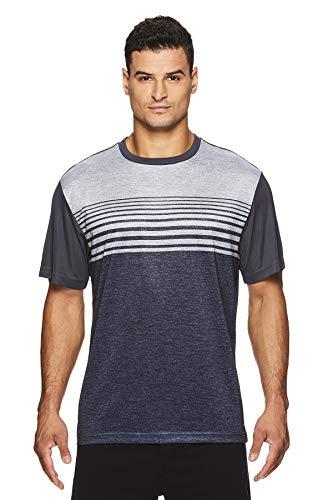 HEAD Men's Crewneck Gym Training & Workout T-Shirt - Short Sleeve Activewear Top - Curveball Sleet Heather Grey, Small