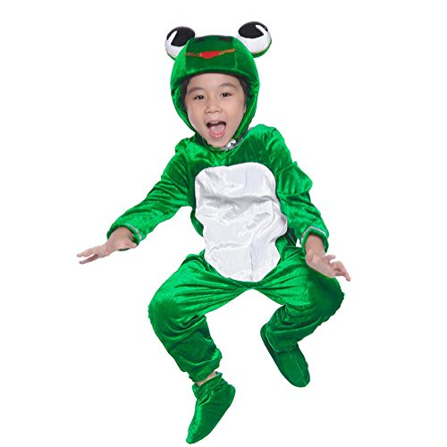 (Deluxe Child Unisex Onesie Animal Costumes for Kids School Play Party attach Shoe Cover)