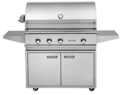 Delta Heat 38 Inch Natural Gas Grill With Infrared Rotisserie And Sear Zone On C
