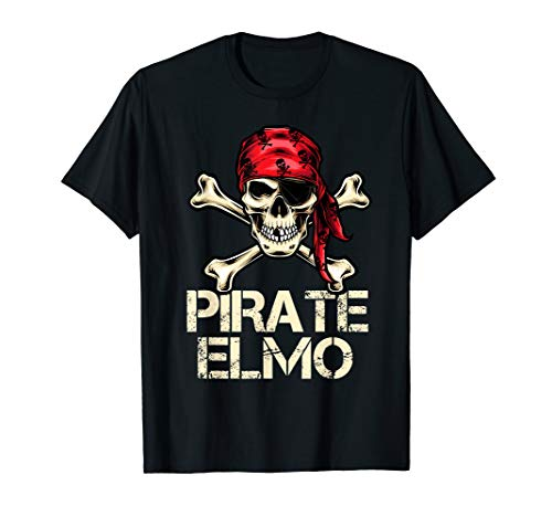 PIRATE ELMO Funny Birthday Personalized Name Boat Fan Gift ()