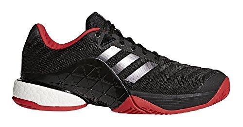 - adidas Barricade 2018 Boost Tennis Shoe - Black/Night/Scarlet - Mens - 11
