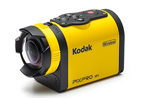 "Kodak PIXPRO SP1 Action Cam with Explorer Pack 14 MP Water/Shock/Freeze/Dust Proof, Full HD 1080p Video, Digital Camera and 1.5"" LCD Screen (Yellow)"