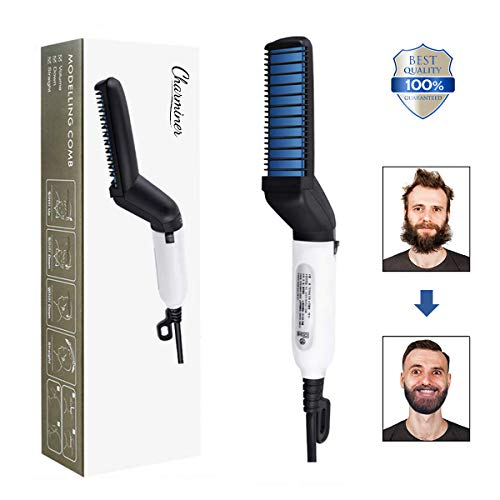 CHARMINER Electric Comb for Men, Man's Style Massage Comb, Hair Straightener for Hair and Beard,...