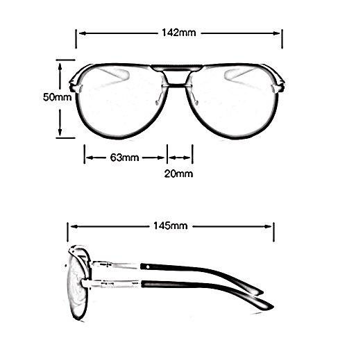 para Gafas sol polarizadas de Gafas de sol SSSX C sol sol de C hombres UV400 conducción Gafas de Color Aviator de Gafas qwSCPgIn