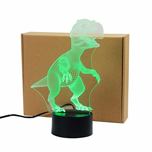 Tyrannosaurus Rex 3D Acrylic Visual Home Touch Table Lamp Colorful Art Decor USB LED Children's Desk Night Light 3D-TD114 1 Rotational Game Table