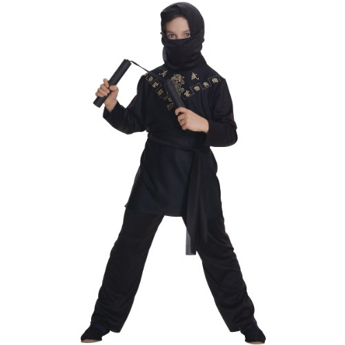 Rubies Black Ninja Child Costume, Large