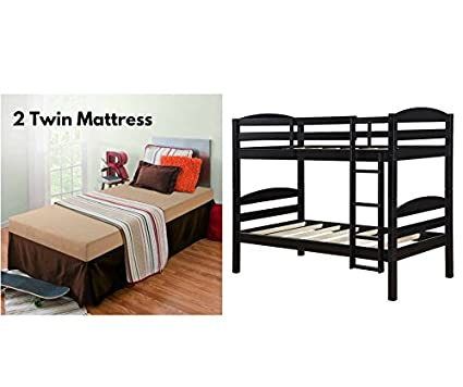 Amazon Com Sturdy Mainstays Twin Over Twin Wood Bunk Bed With