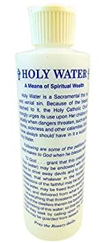 H.R.G Holy Water Bottle with Prayer to Saint Michael, 8 Ounce