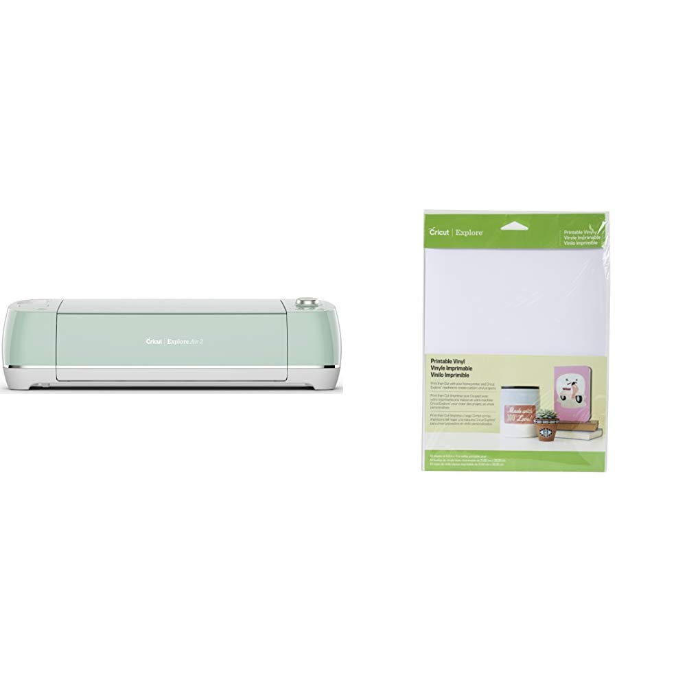 Amazon.com: Cricut Explore Air 2 Mint & Printable Vinyl for ...