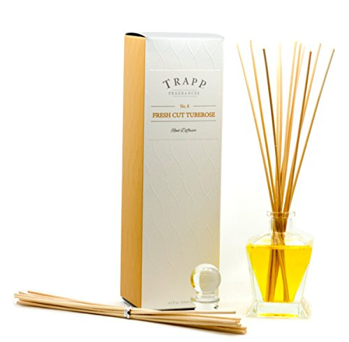 (Trapp Candles Reed Diffuser Kit, No. 8 Fresh Cut Tuberose, 4.5-Ounce)