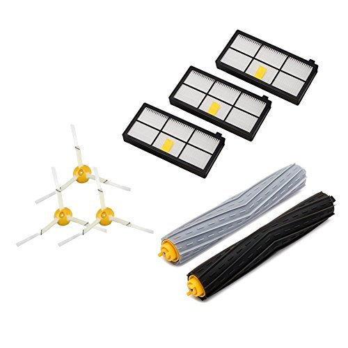 Vacuum Accessories Kit for iRobot Roomba 800 900 Series 880 860 870 871 980 990 Robotic Cleaner Replenishment Parts(8 in - Delivery Hm Free