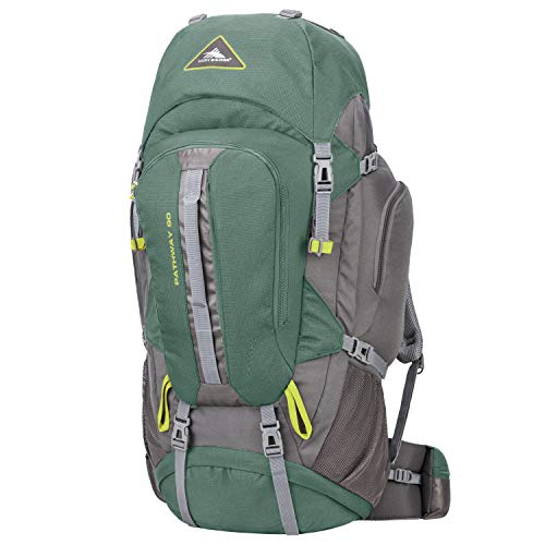6ba738043d High Sierra Pathway 90L Internal Frame Backpack, Pine/Slate/Chartreuse