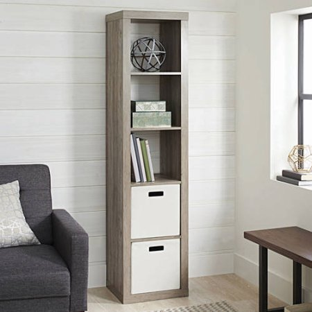 Better Homes and Gardens 5-Cube Organizer, (Rustic Gray)