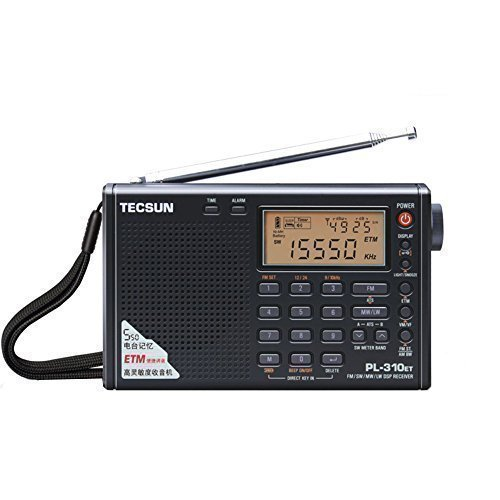 TECSUN PL-310ET FM Stereo/SW/MW/LW World Band PLL DSP Radio Black by allnice (Japan Radio)