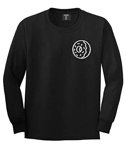 Kings Of NY Donut with Sprinkles Foodie Treats Long Sleeve T-Shirt Medium Black (Future Tshirts Odd)
