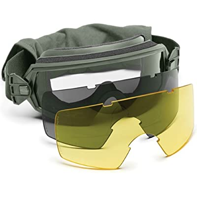 Smith Optics Elite Outside the Wire (OTW) Goggles, Clear/Gray/Yellow, Foliage Green