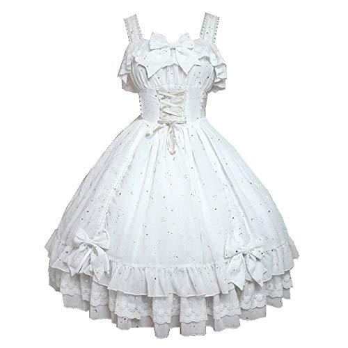 Souffle Song Women's Foil Stamping Golden Stars Drawstring Princess Dress Lolita Fashion JSK
