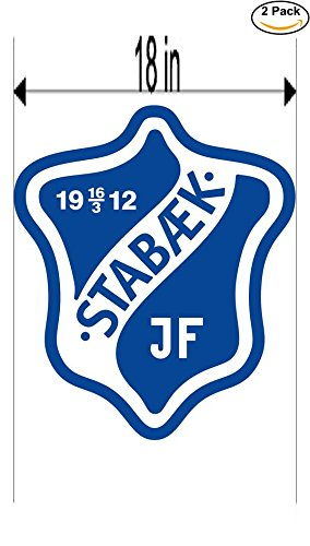 fan products of Stabaek JF Norway Soccer Football Club FC 2 Stickers Car Bumper Window Sticker Decal Huge 18 inches